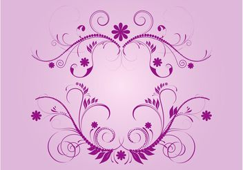 Purple Vector Flourishes - vector gratuit #143469