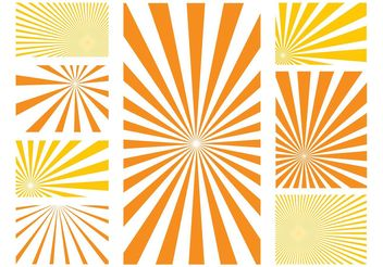 Sunburst Patterns Graphics - Free vector #143589