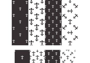 Free Fleur De Lis Vector Seamless Patterns - бесплатный vector #143649