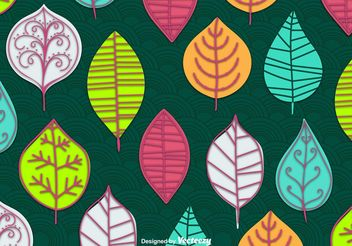 Abstract Leaves Vector Wallpaper - vector gratuit #143669