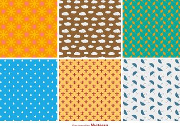 Natural Flat Patterns - vector gratuit #143689