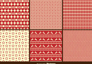 Christmas Retro Patterns - Free vector #143699