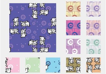 Bunny Patterns - Free vector #143729