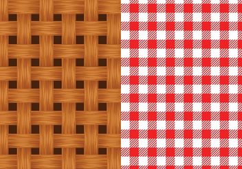 Free Vector Old Wicker Basket Texture - Free vector #143749