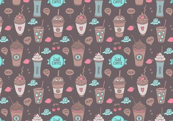 Free Colorful Iced Coffee Seamless Pattern Vector - vector gratuit #143759