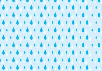 Rainy Seamless Pattern Vector - Free vector #143829