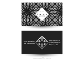 Free Vector Geometric Business Card Template - vector gratuit #143879