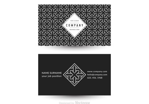 Free Vector Geometric Business Card Template - vector #143879 gratis