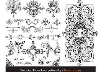 Wedding Floral Lace pattern vector - vector gratuit #143919