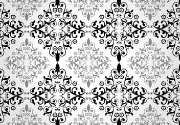 Floral Damask Vector Pattern - Kostenloses vector #143929