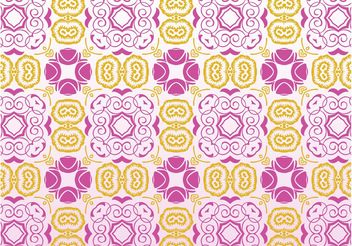 Retro Flowers Pattern - vector gratuit #144049