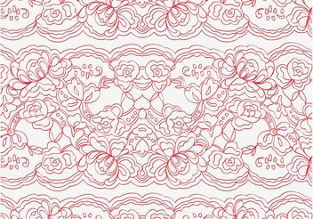 Vector Lace Pattern - Free vector #144059
