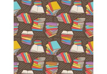 Free Hand Drawn Vector Stack of Books Seamless Pattern - Free vector #144109