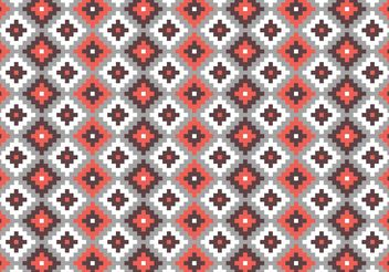 Aztec Mayan Primitive Bricks Pattern Vector - Free vector #144149