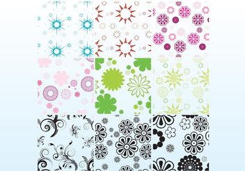 Free Floral Patterns - Kostenloses vector #144179