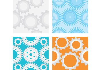 Gear Vector Patterns - vector gratuit #144209