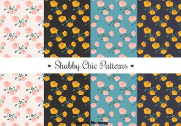 Free Shabby Chic Patterns - vector gratuit #144219