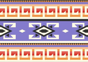 Purple Native American Pattern Vector - vector #144259 gratis