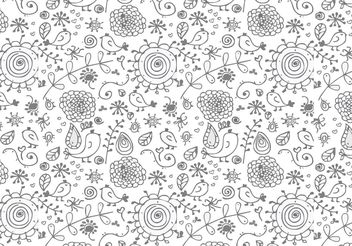 Nice Floral Vector Background - Free vector #144309
