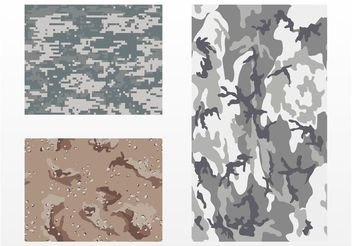 Camouflage Patterns - vector gratuit #144319