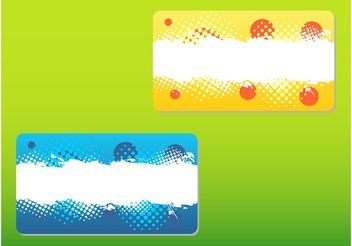Abstract Business Cards - vector #144379 gratis