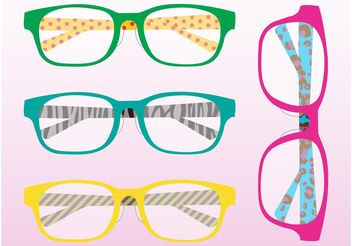 Colorful Glasses - vector gratuit #144409