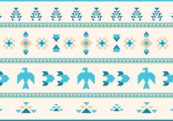 Native American Vector Pattern Eagles and Goose - vector gratuit #144419