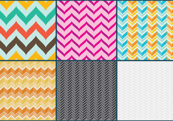 Curved Chevron Pattern Vectors - vector #144469 gratis