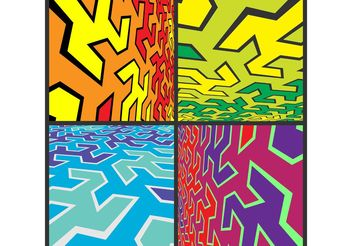 Abstract Vector Background Pack - vector gratuit #144489