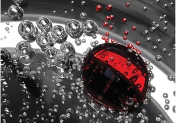 Liquid Drops Background - бесплатный vector #144529