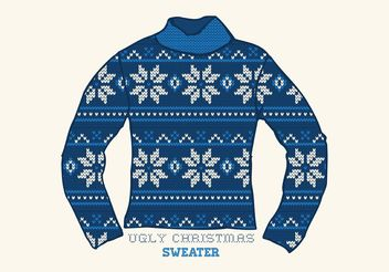 Free Vector Ugly Christmas Sweater - Free vector #144669