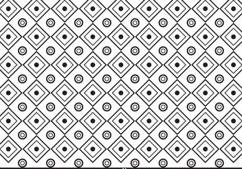 Black and White Pattern Vector - vector gratuit #144679