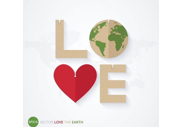 Free Love The Earth Poster Vector - Free vector #144689