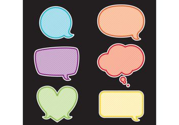 Speech Bubble Vectors - vector gratuit #144709