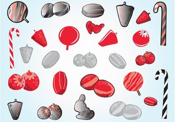 Candy Illustrations - vector gratuit #144859