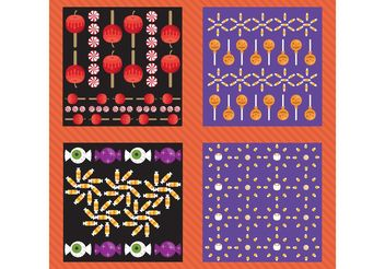 Halloween Vector Pattern Pack - Free vector #144869