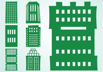 Tall Buildings Set - Free vector #144889