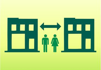 People And Buildings Icons - Free vector #144899