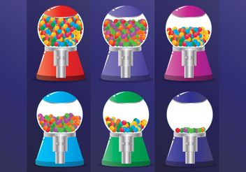 Bubblegum Machine Vectors - Free vector #144909