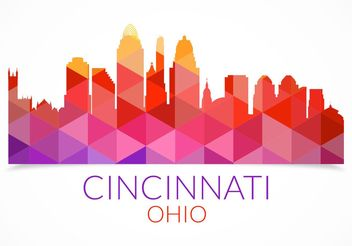 Free Abstract Colorful Cincinnati Skyline Vector - Free vector #144929