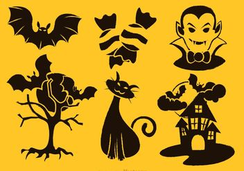 Dracula Vector Icons Set - Free vector #144939