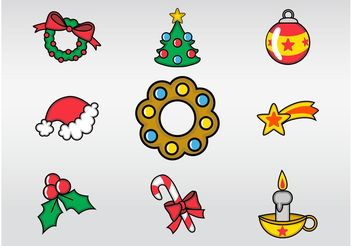 Xmas Decoration - vector gratuit #144949