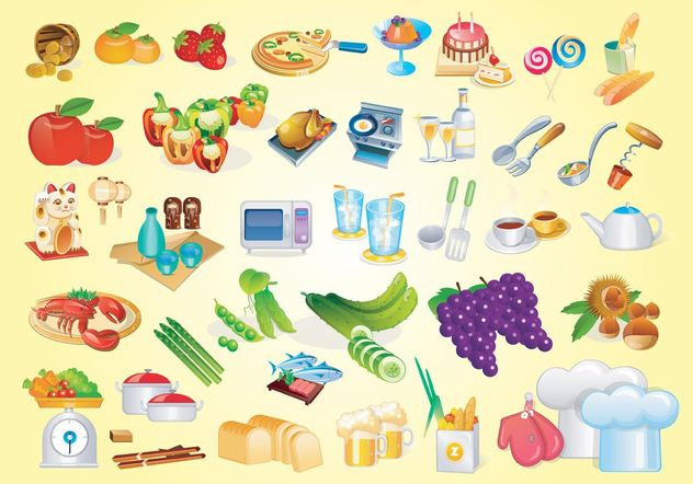Cooking Vector Graphics - Kostenloses vector #144999