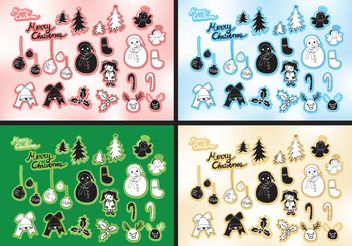 Free Vector Christmas Set - Kostenloses vector #145029