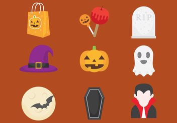 Halloween Vector Icons - Free vector #145079