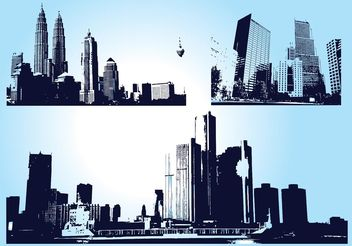 Skyscraper City Graphics - vector gratuit #145129