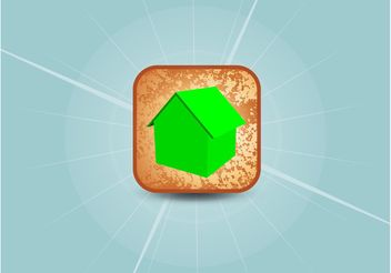 3D Home Vector Icon - vector gratuit #145179