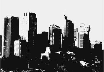 Big City Buildings - Free vector #145209