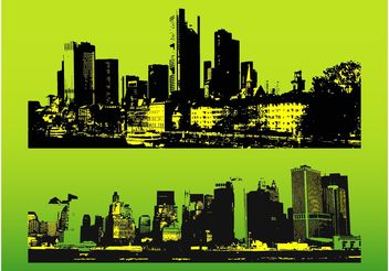 Big City Illustrations - vector gratuit #145219