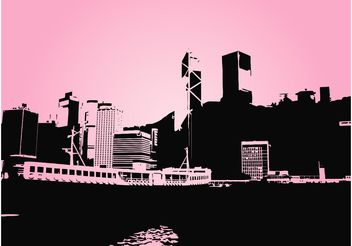 City And Ship - vector #145229 gratis